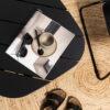 ELOKUU-lounge-pöytä, musta mänty